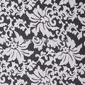 Off blanca de organza bordado de tela de encaje- w002663