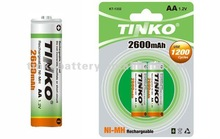 famous industry 1.2v aa ni-mh rechargeable battery with lowest price as others