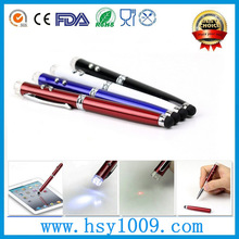 new model metal touch ball led light laser pen