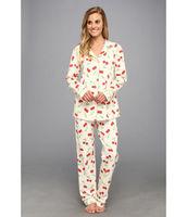 2014 Wholesale Long Sleeve Cotton Cheap Print Women's Sexy Mature Sleepwear