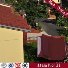 J1 305X305mm japanese red glazed clay interlocking lightweight roof tile