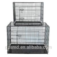 Metal folding dog crate