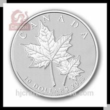 Canada maple leaf replica silver coin