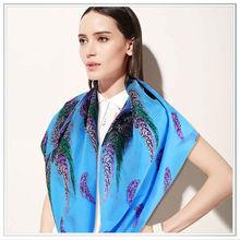 Superior calidad de encargo nuevo diseño con estilo del verano digital de seda de la bufanda