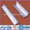 Diferentes tamanhos de alumínio galvanizado ferro de ângulo, 6063 t5 oem odm tratamento de superfície