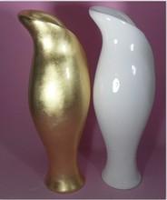 SJJ AFP005 Wholesale artificial flower pot ceramic pot artificial vase gold color