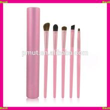 pink brush set metal cylinder