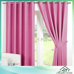 fashionable poly silk eyelet villa curtain
