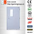 puerta de acero fuego withfire vidrio a prueba de pánico y barra de empuje