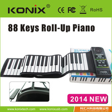 portable silicon flexible roll up piano support midi out