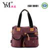 New arrival high quality designer fashion beautiful brown canvas tote bags women 2014