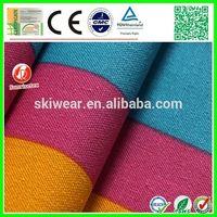 popular stretch spandex rainbow stripe cotton fabric