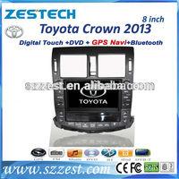 ZESTECH China Factory 2 Din Touch screen Car DVD Gps Navigation for Toyota Crown Car DVD Gps Navigation radio