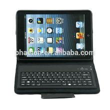 Leather case 6300 Bluetooth Keyboard case For iPad Mini