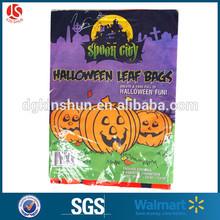 2 pk Halloween plastic pumpkin leaf bag,large pumpkin and large leaf bag