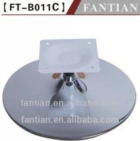 swivel wooden sofa iron metal round base design