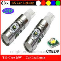 New design high power 10-30V Cree 25W T10 168 501 194 car led side mirror light