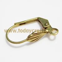 Factory sale brass findings costume jewelry clip on earring owl
