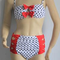Bowknot high waist women bikini