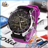 Stainless steel back teenager's digital time display analog wrist watch