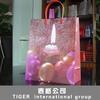 decorative reusable shopping bag die cut shopping bag smart shopping paper bag