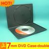 7mm black single/double plastic wedding dvd cases cd