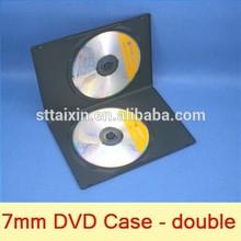 7mm black single/double plastic cd cases wholesale blank cd dvd
