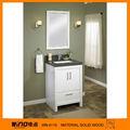 bianco lowes legno massello vanità armadietto specchio del bagno lavatoio con mobile