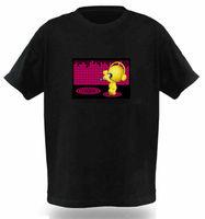 2014 new design short sleeves for men LED t shirt 100% cotton