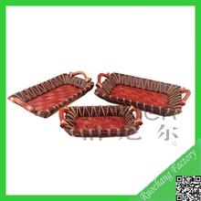 High quality fashionable baskets small handle wicker,miniature wicker baskets,wicker basket trays