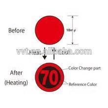 Custom high quality temperature indicator label