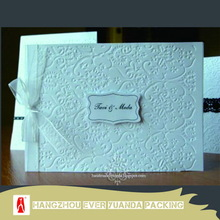 Antique updated double heart invitation card