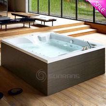 Luxury design square shape classical free standing acrylic bathtub