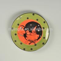 2014 New Halloween Style ceramic round plate
