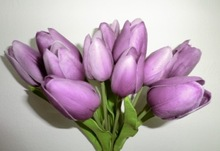 Hot sale pu tulip bouquet soft touch tulip artificial flower