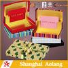 China supply cardboard rectangle gift box with ribbon,cardboard packaging gift box