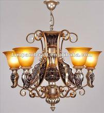 2012 Euro Style Modern new design white polyresin chandelier