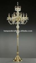 2012 China lamps new design crystal chandelier floor lamp