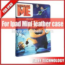 Fashionable design cartoon leather case for ipad mini