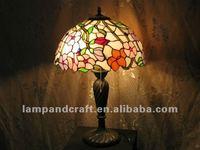 Mini Tiffany table lamp&table lamps wooden base