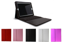 For Apple iPad Stand Leather Case Cover With Removable Bluetooth Keyboard