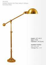 brass simpson booom arm floor lamp