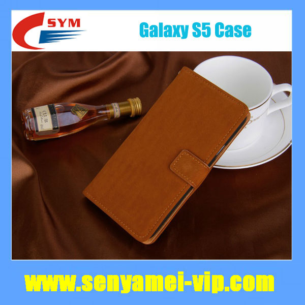 Luxury Flip Leather Case for Samsung S5 Case