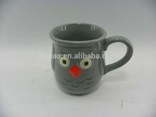 3D porcelain owl mug