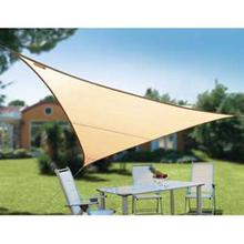 HDPE Sun Shade Sail Triangle Shape 3.6x3.6x3.6m , beige ,Waterproof