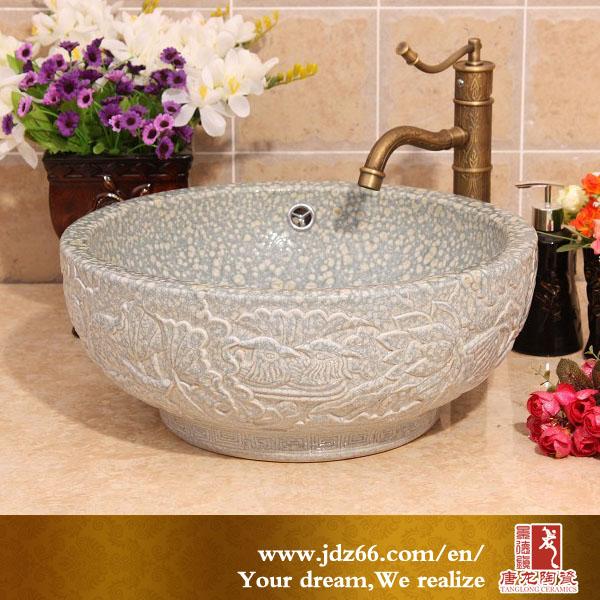 Bonne qualit chinoise en c ramique art double vasque en - Cuisine de bonne qualite ...