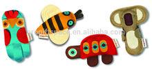 2015 fashion hotsale China eco friendly cheap wholesale novelty handmade felt toys for kids alibaba website