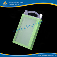 ISO9001 clear plastic handles corrugated boxes
