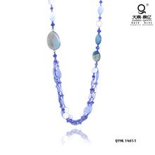 big stone jewelry light blue beaded necklaces