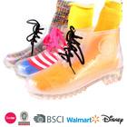 2014 women sheepskin slippers with pvc rain boots